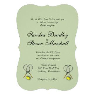 Tennis Sport Theme Wedding 13 Cm X 18 Cm Invitation Card