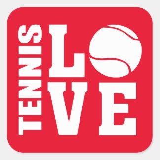Tennis Square Sticker