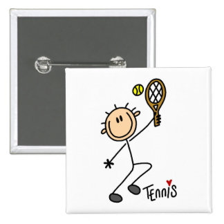 Tennis Stick Figure Button