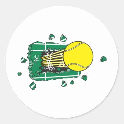 Tennis Round Stickers