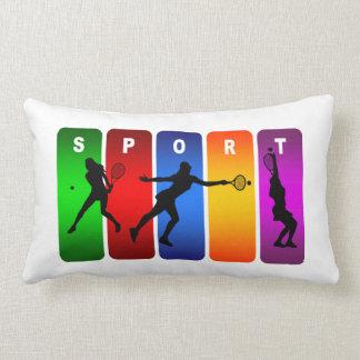 Tennis Super Cool Sport Design (Female) Throw Cushions