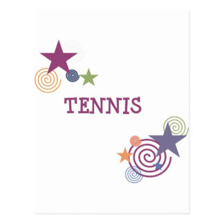 Tennis Swirl Postcard