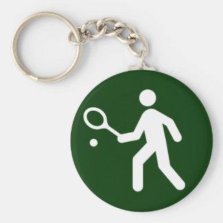 Tennis Symbol Keychain