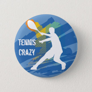 Tennis Tennis Tennis Tennis Tennis 6 Cm Round Badge