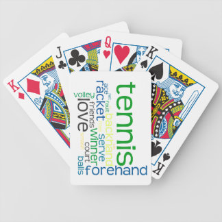 Tennis Terms Playing Cards