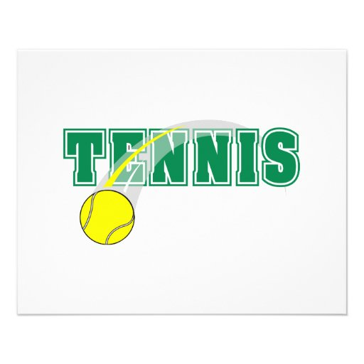 tennis text graphic full color flyer