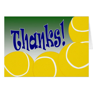 Tennis - Thank You! Card