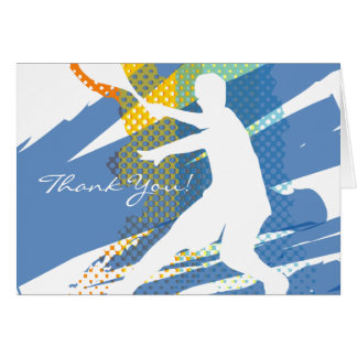 Tennis Thank You Card with nice design