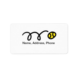 Tennis theme address labels / stickers