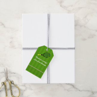 Tennis theme Party Guest Thank You Gift Tags
