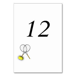 Tennis Theme Table Number Placecards