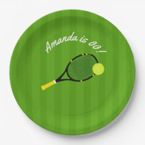 Tennis themed Birthday Party personalised Paper Plate