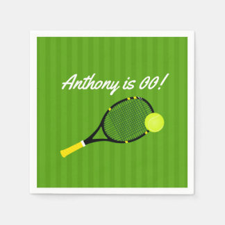 Tennis themed Birthday Party personalized Disposable Napkins