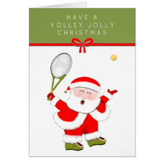 Tennis-themed Christmas card