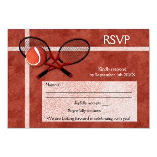 Tennis Themed Party RSVP Card