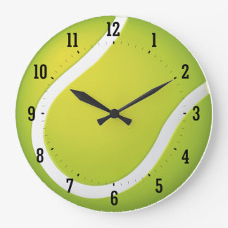 Tennis Time | Sport Cool Gifts Large Clock