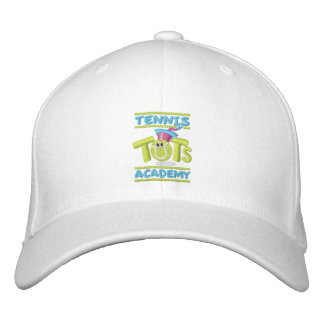 Tennis Tots Academy stacked logo,name,web site Embroidered Hat