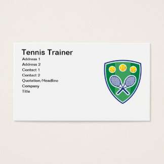 Tennis Trainer Business card