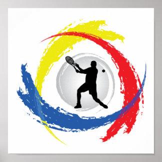 Tennis Tricolor Emblem (Male) Poster