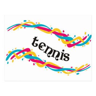 Tennis Twists Postcard