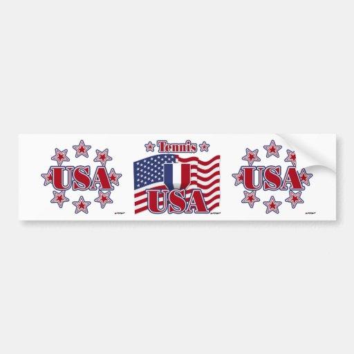 Tennis USA Bumper Sticker