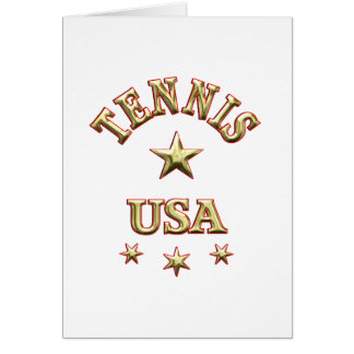 Tennis USA Greeting Cards