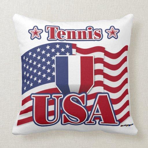 Tennis USA Pillow