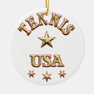 Tennis USA Christmas Ornament