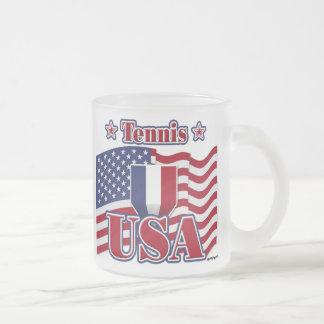 Tennis USA Frosted Glass Mug