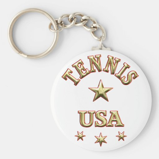 Tennis USA Key Chains