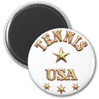 Tennis USA Fridge Magnet
