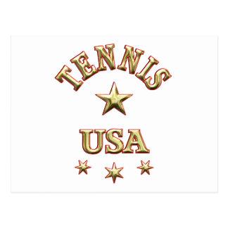 Tennis USA Postcard