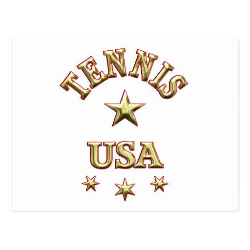 Tennis USA Post Card