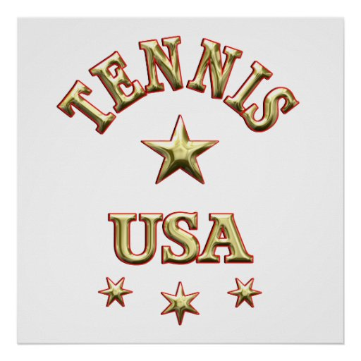 Tennis USA Poster
