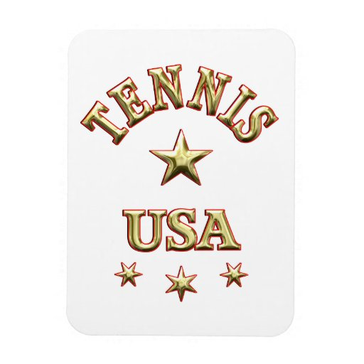 Tennis USA Magnets