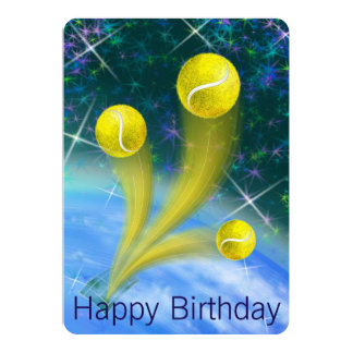 Tennis Victory Birthday party Card