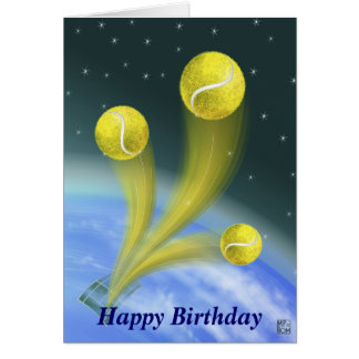 Tennis Victory Happy Birthday Card