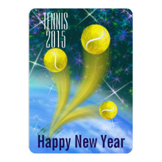 Tennis Victory New Year's party Card