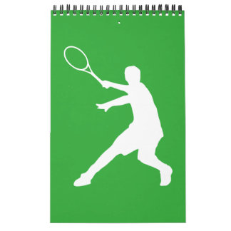 Tennis wall calendar for player, coach and fan