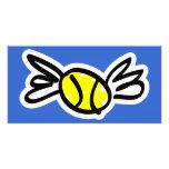 tennis-wings customised photo card