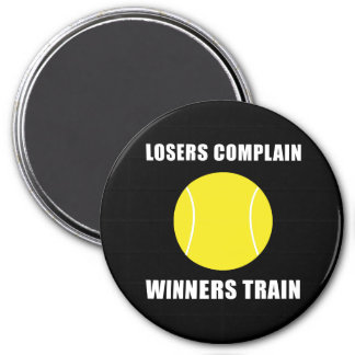 Tennis Winners Train 7.5 Cm Round Magnet