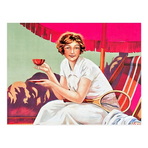 Tennis Woman from Phoscao Ad Post Cards