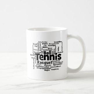 Tennis Word Cloud Coffee Mugs