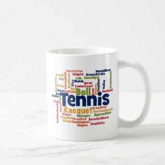 Tennis Word Cloud Mug