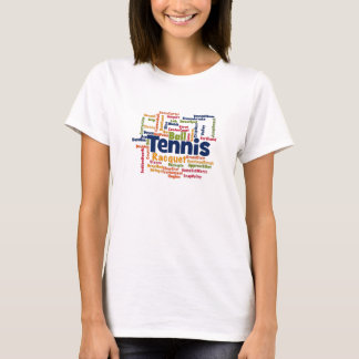 Tennis Word Cloud T-Shirt