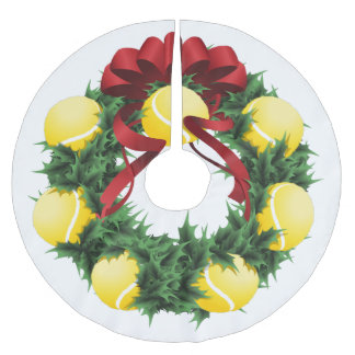 Tennis Wreath Christmas Tree Skirt