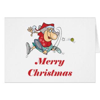 TennisChick Mrs Claus Greeting Cards