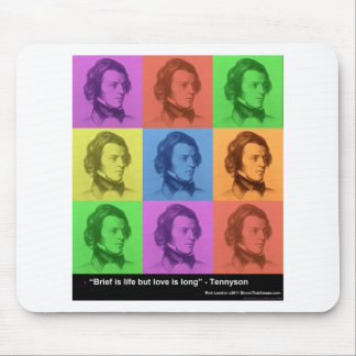 """Tennyson """"Love Is Long"""" Quote PopArt Gifts & Tees Mouse Pad"""