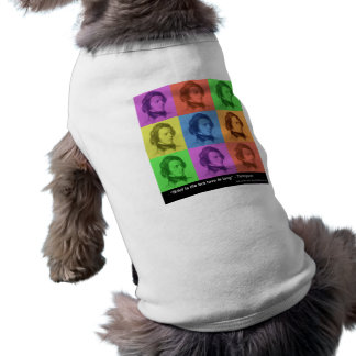 """Tennyson """"Love Is Long"""" Quote PopArt Gifts & Tees Sleeveless Dog Shirt"""