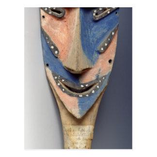 Tenon mask, from Ile de Vao, New Caledonia Postcard